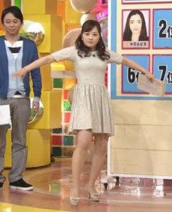 ミニスカート姿の水卜麻美さん