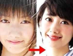 波瑠 鼻 比較