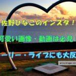 佐野ひなこのインスタグラムは必見!可愛い画像・動画が大反響!