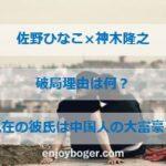佐野ひなこが神木隆之介と破局!現在の彼氏は中国人の大富豪とセレブ生活?