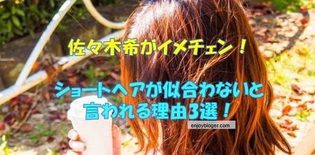 佐々木希にショートヘアは似合わない?