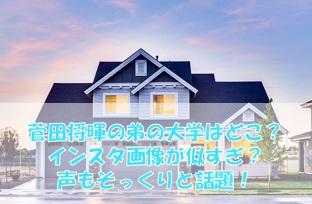 菅田将暉の弟の大学はどこ?インスタ画像が似すぎ?声もそっくりと話題!